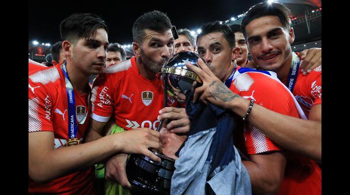 Independiente lució una camiseta especial Puma tras ganar la Copa Sudamericana