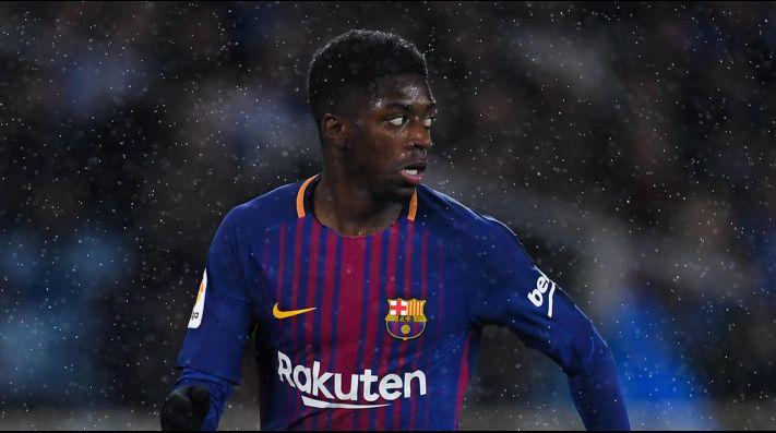 Ousmane Dembélé se lesionó contra Real Sociedad