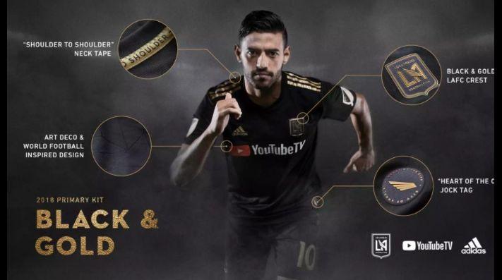 Carlos Vela y Los Angeles FC revelan el primer jersey del club