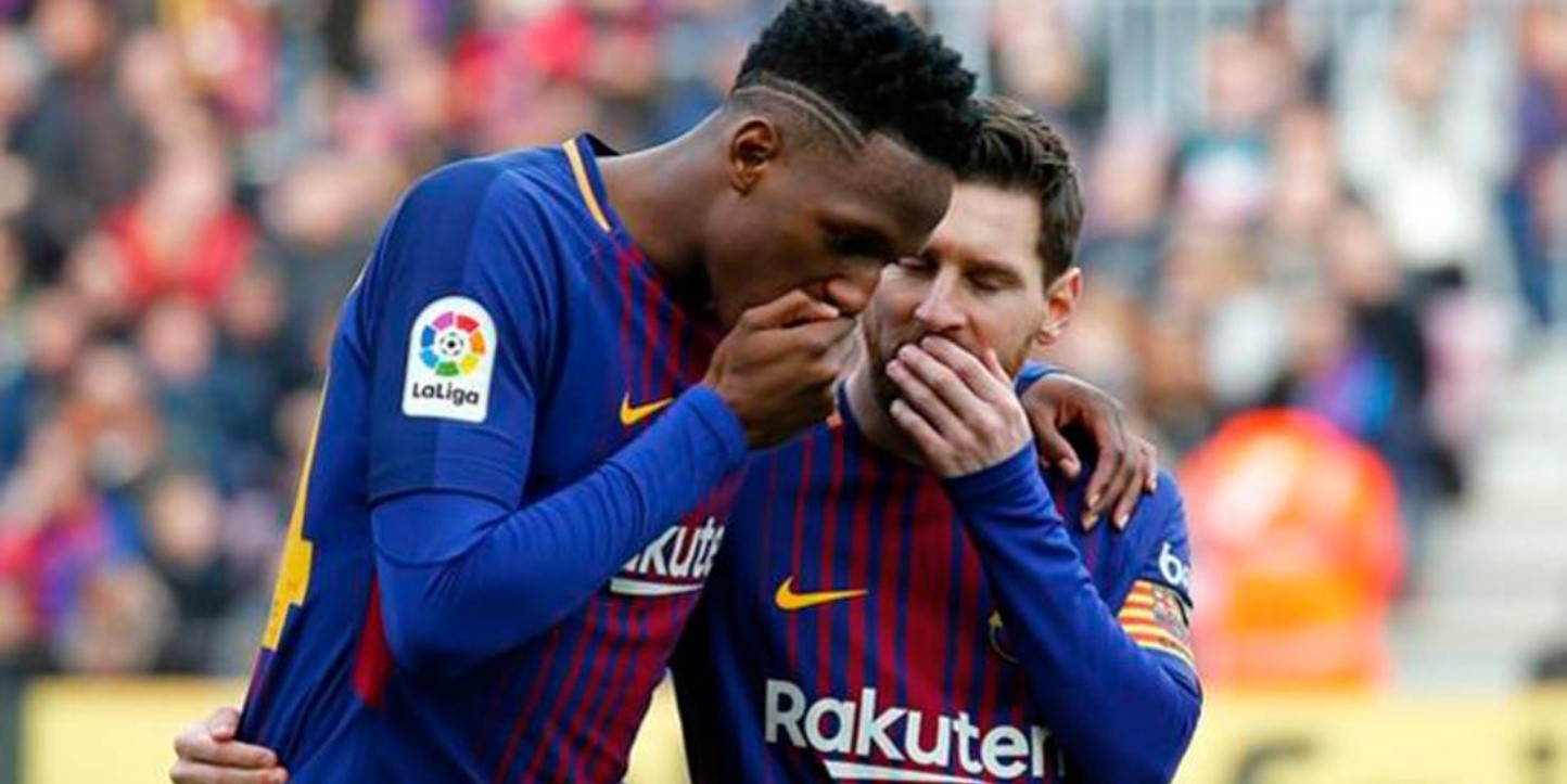 Por culpa de Messi, Yerry Mina llegó mareado al Camp Nou