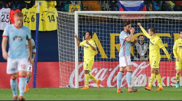 Triplete de Bacca con Villarreal en el triunfo 4-1 sobre Celta