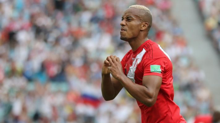 André Carrillo anotó el primer gol de Perú ante Australia. (Foto: Getty)