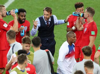 Colombia v England: Round of 16 - 2018 FIFA World Cup Russia - <enter caption here> during the 2018 FIFA World Cup Russia Round of 16 match between Colombia and England at Spartak Stadium on July 3, 2018 in Moscow, Russia. - Not Released (NR) Images cannot be used in books or individually in the form of mobile alert services or downloads without prior approval from FIFA