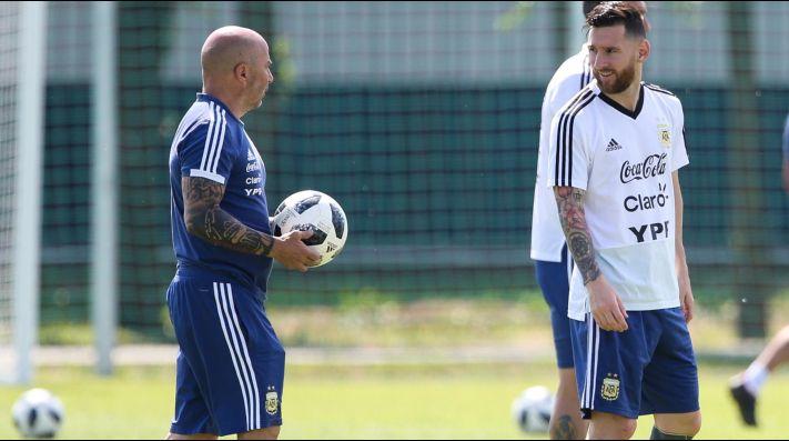 Qué se dijeron Messi y Sampaoli tras la derrota ante Croacia - Deportivo