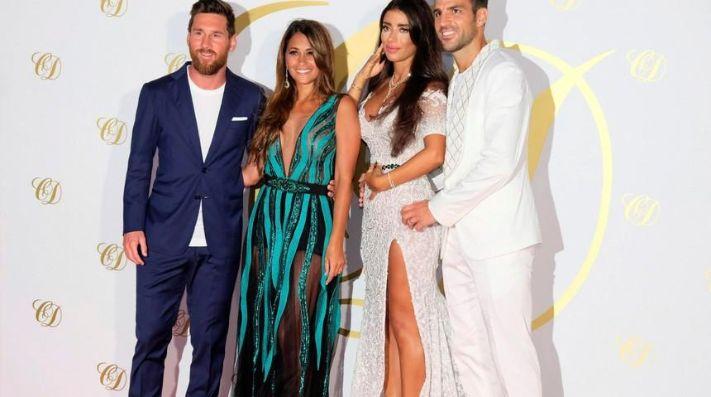 Looks de Messi y Roccuzzo para la boda de un famoso futbolista