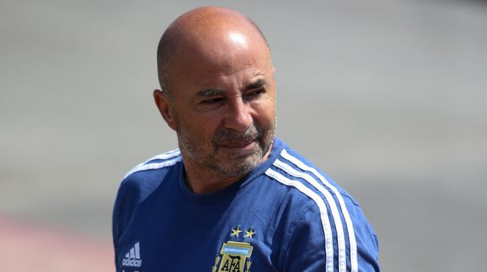 Argentina Training Session - FIFA World Cup Russia 2018 - Not Released (NR) Images cannot be used in books or individually in the form of mobile alert services or downloads without prior approval from FIFA