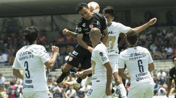 Necaxa le pega a Pumas en la Copa