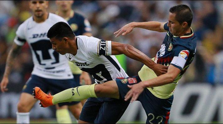 Los goles del agónico empate del América sobre Pumas con nueve hombres