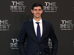 Thibaut Courtois en la ceremonia.