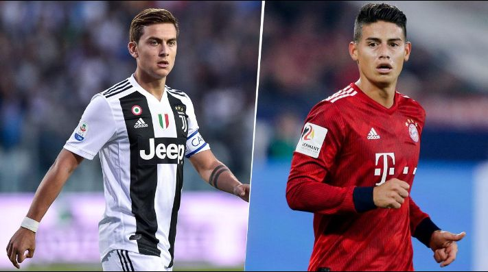 Bayern y Juventus harían intercambio entre James y Dybala