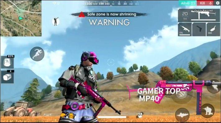 Skin Top Gamer Para Las Armas Del Free Fire