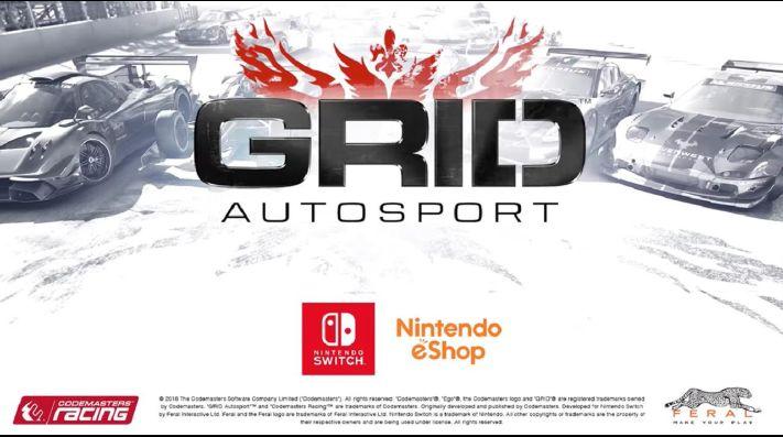 Grid El Juego De Carreras Para Nintendo Switch