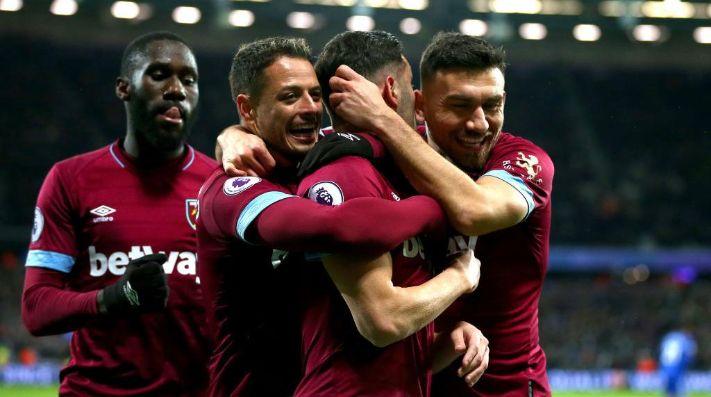 Con Chicharito, West Ham se enrachó y goléo al Cardiff City