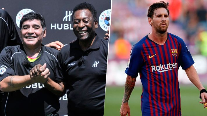 Pelé dice que Maradona es mejor que Messi y cuestiona a Neymar
