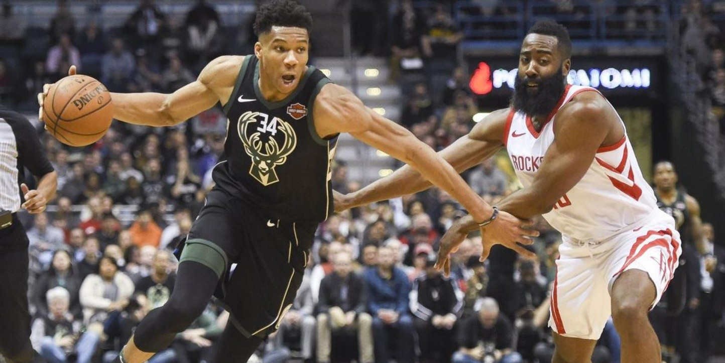 Giannis Antetokounmpo y James Harden