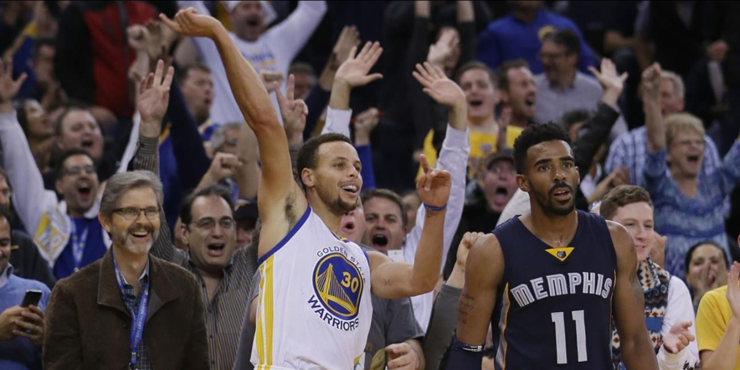 Stephen Curry y Mike Conley