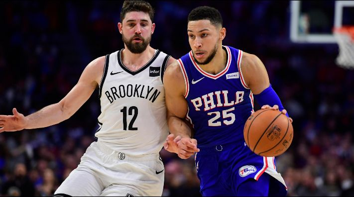 Joe Harris y Ben Simmons (Foto: Getty)