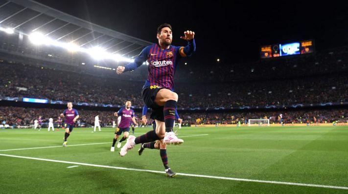 EL MEJOR DE TODOS. Lionel Messi salta para la euforia de todo el Camp Nou (Foto: Getty).