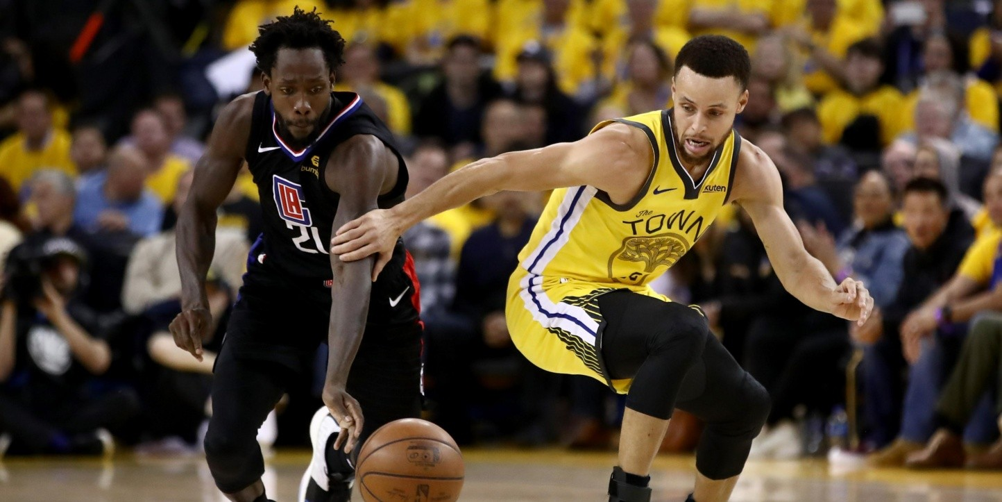 Patrick Beverley, Stephen Curry (Foto: Getty)