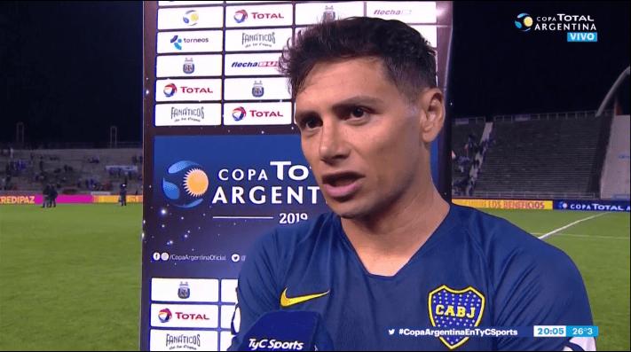 Mauro Zárate después del partido.