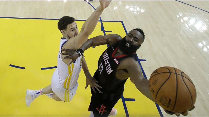 Klay Thompson, James Harden (Foto: Getty)