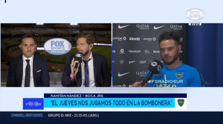 Nahitan Nández en Fox Sports Radio.
