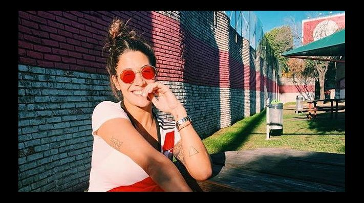 Ivana Nadal fue al Monumental con una amiga, metió foto y tiró:
