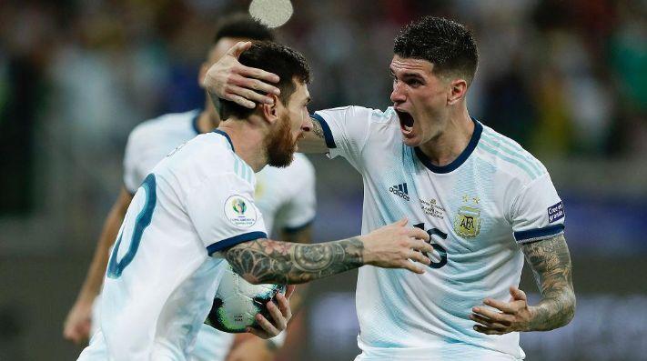 De Paul lo apoyó a Messi: