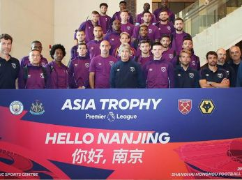 El West Ham realiza parte de la pretemporada en China. (Foto: sitio oficial West Ham)