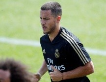 Eden Hazard entrenando en Real Madrid.