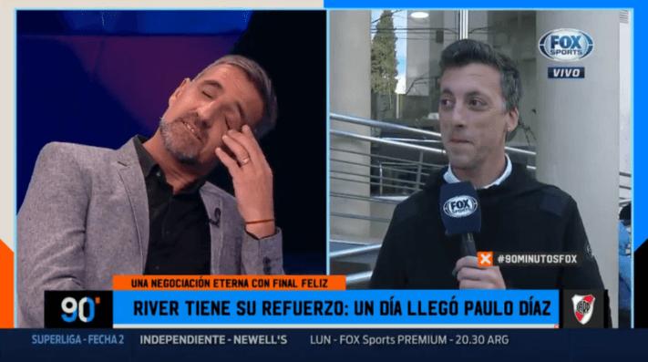 Como le gusta: Mauro Palacios volvió a descansar a Cascini en FOX Sports