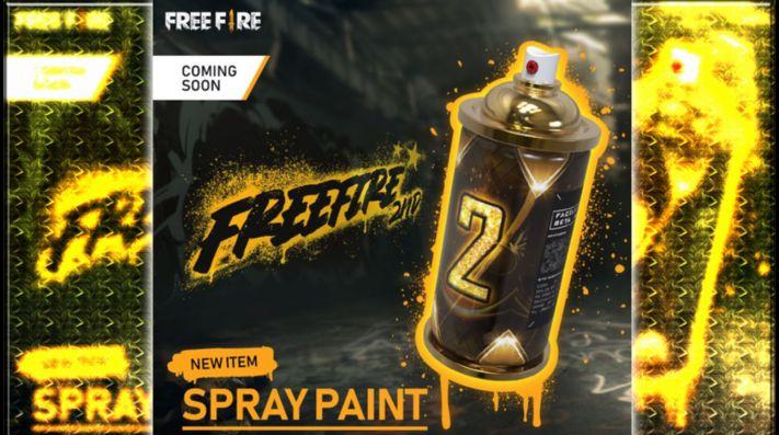Free Fire: los Graffitis llegarán para festejar el 2° Aniversario