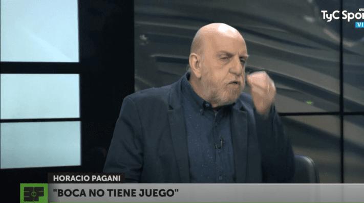 A Pagani no le importó la victoria de Boca y le pegó a Alfaro