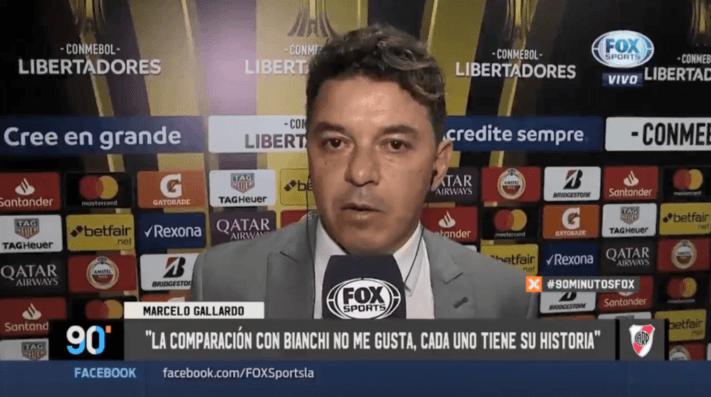 A Gallardo le preguntaron por la comparación con Bianchi: