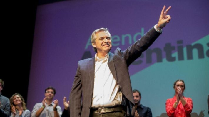 Alberto Fernández, candidato por el 'Frente de Todos'.