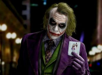 Heath Ledger como el Joker en