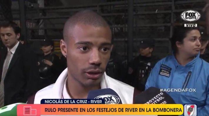 Nicolás de la Cruz, sobre los hinchas de Boca: