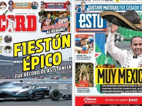 Lewis Hamilton conquistó el Gran Premio de México y se quedó con las portadas
