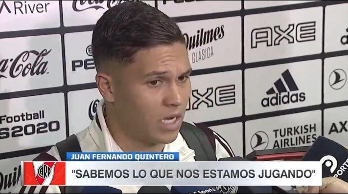 ¿Selección Colombia o River? Quintero habló de la difícil situación