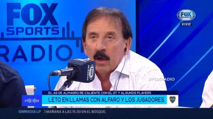Roberto Leto, furioso por la actualidad de Boca.