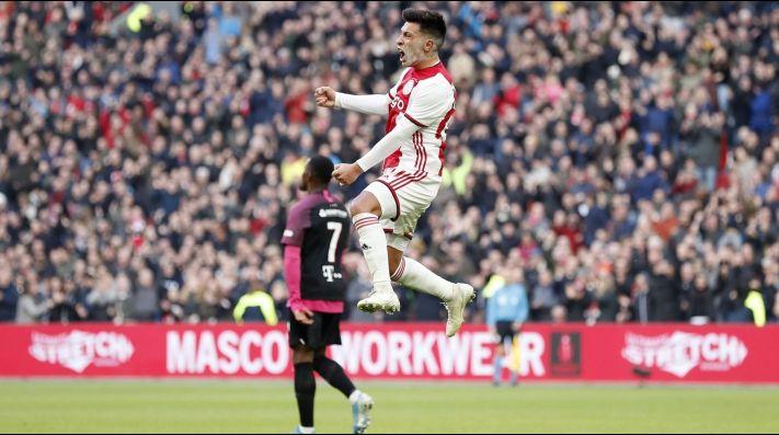 Vuela alto: Lisandro Martínez se anotó en la goleada del Ajax al Utrecht