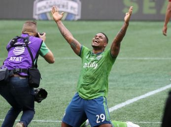 Román Torres, defensor panameño del equipo Seattle Sounders, de la MLS.