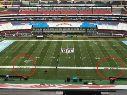 El estadio Azteca presentó una verdadera rareza en la previa de la NFL.