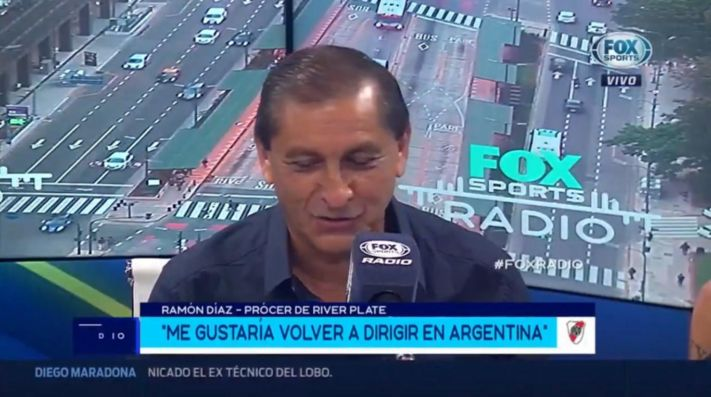Ramón Díaz en Fox Sports Radio.