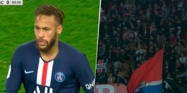 Neymar salió del campo, la afición del PSG lo silbó y se marchó al vestuario | Bolavip