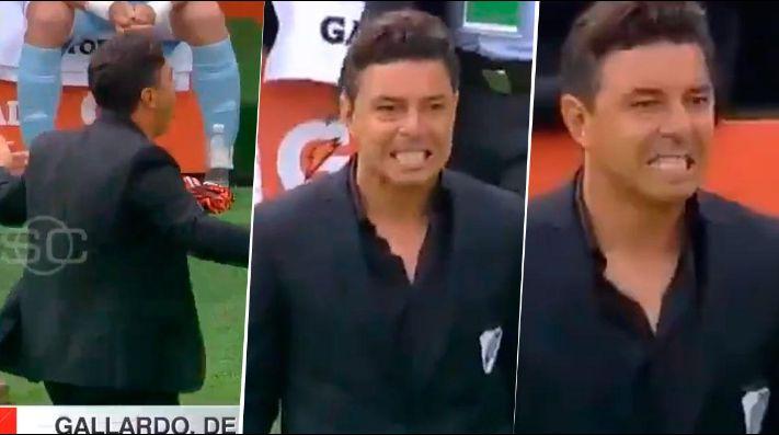 Las reacciones de Gallardo en los goles de Flamengo