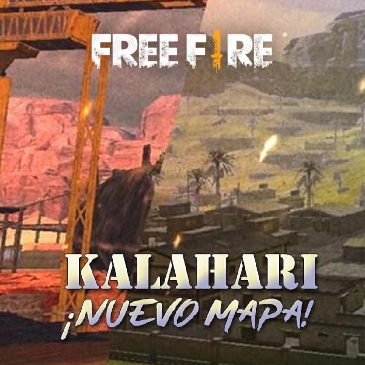 Desierto De Kalahari Mapa.Nuevo Mapa Llega A Free Fire Preparate Para El Desierto De