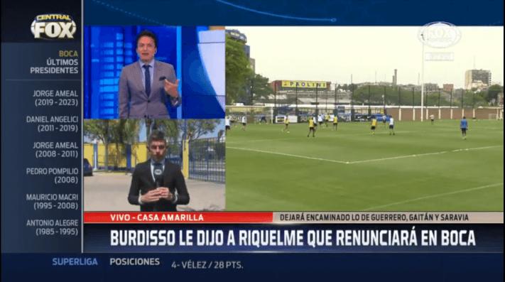 FOX Sports: Burdisso le comunicó a Riquelme que renuncia