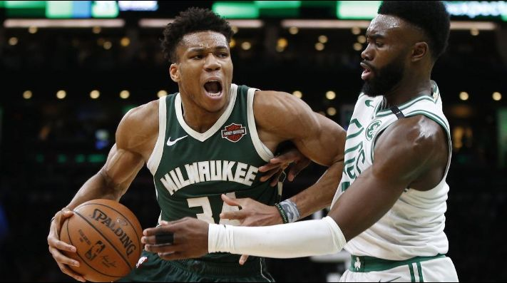 Giannis Antetokounmpo, Jaylen Brown