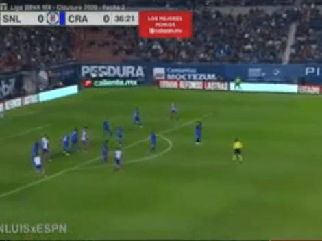 ¡Golazo desde la casa! Reyes abrió la cuenta para San Luis ante Cruz Azul